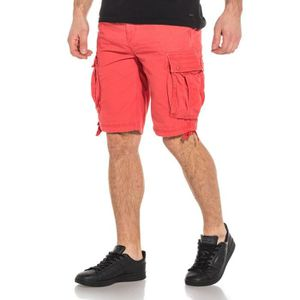 SHORT Short rose homme stylé cargo multipoches
