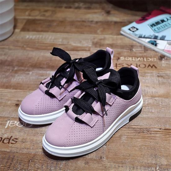 be3fcbcf5f5 Sneakers Femme Mode Loisirs Chaussures 2018 Classique Respirant ...
