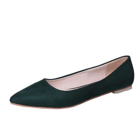 Fashion Femmes Girl Flat Pointed Top Shallow Slip-on Casual Shoes Party Shoes vert_XZ*6109 Vert Vert - Achat / Vente slip-on