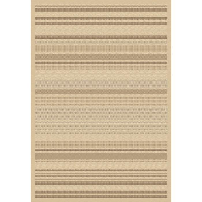 Floorluxe tapis de salon tissé plat champagne taupe 120x170