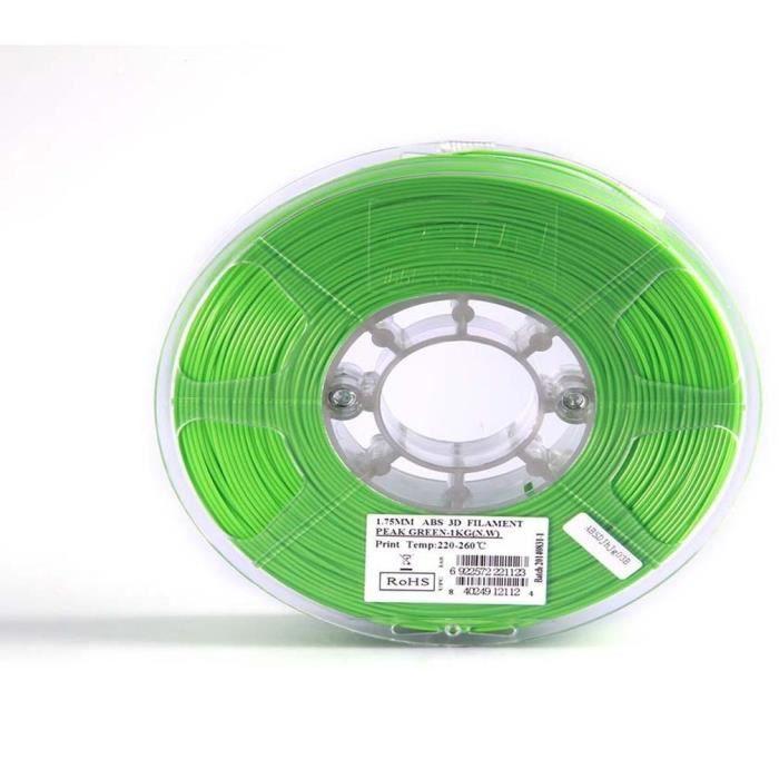 ESUN Filament pour Imprimante 3D ABS ESUN - Vert Bouteille - 3 mm - 1kg