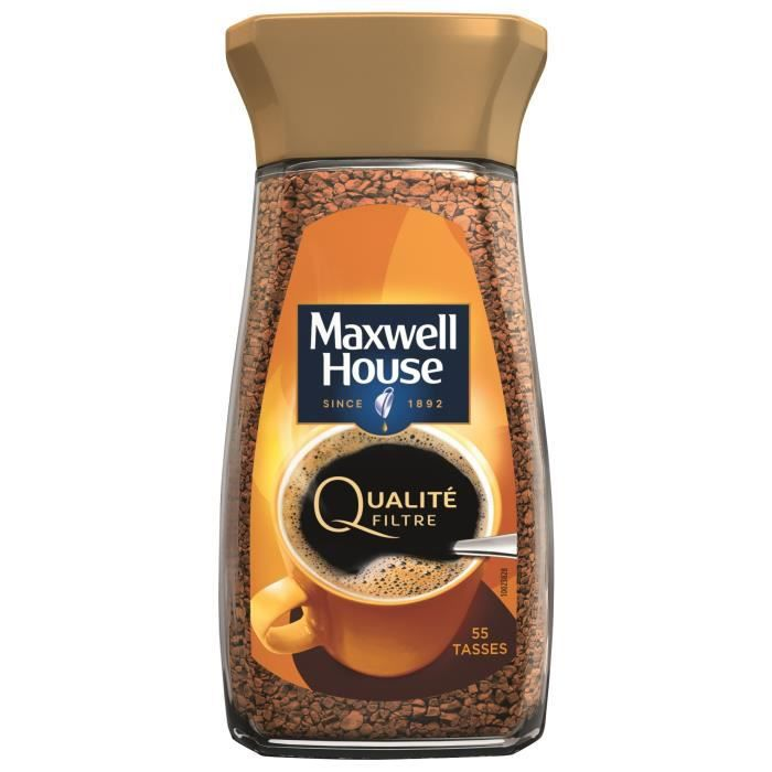 Maxwell House Qualité Filtre cafe soluble bocal -100g