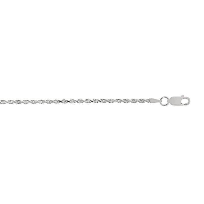 Argent Sterling Rhodium plaqué corde chaîne collier-30 cm