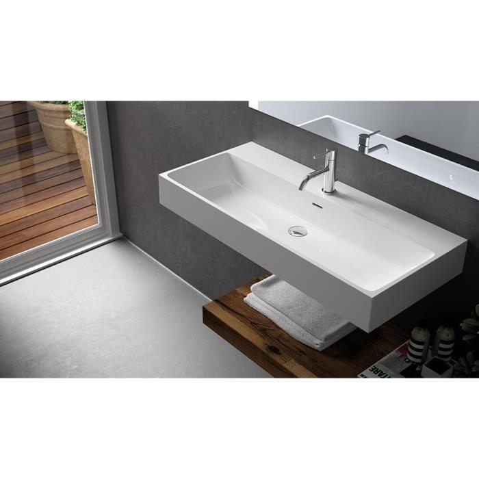 Vasque poser ou suspendue 90cm aconitium achat vente lavabo vasque vasque poser ou - Vasque a poser occasion ...
