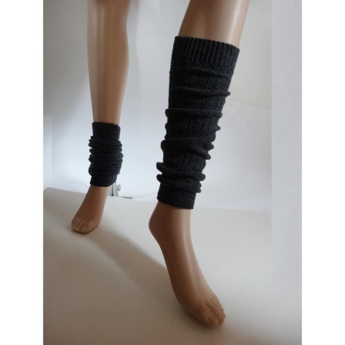 Assez Jambière Guêtre Grises chaussettes sans pied sexy Gris - Achat  RM15