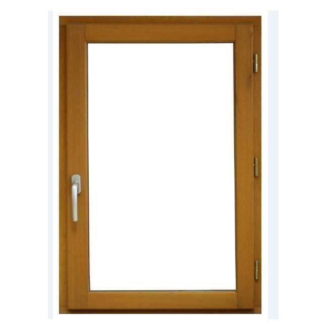 Fenêtre 1 Vantail 75x50 Tirant Droite Marron Achat Vente