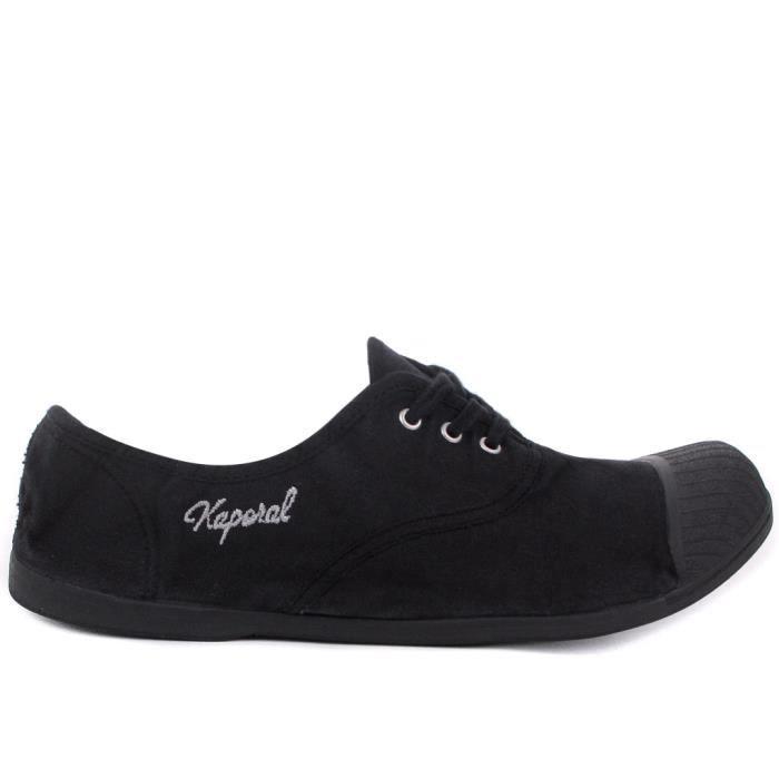 4941349e89 Chaussure Kaporal en toile pour ... Noir Noir - Achat / Vente basket ...