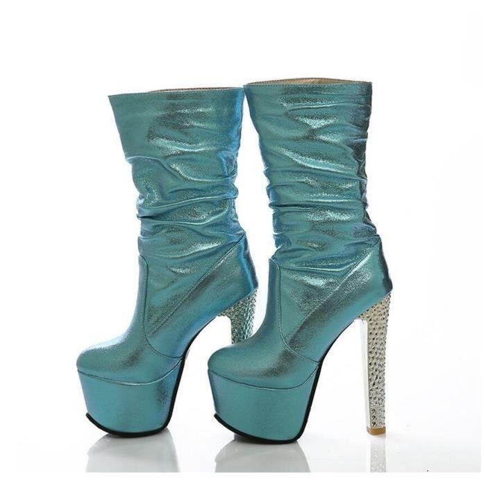 Femmes la mode haut t tanche Ultra bottes hauts...
