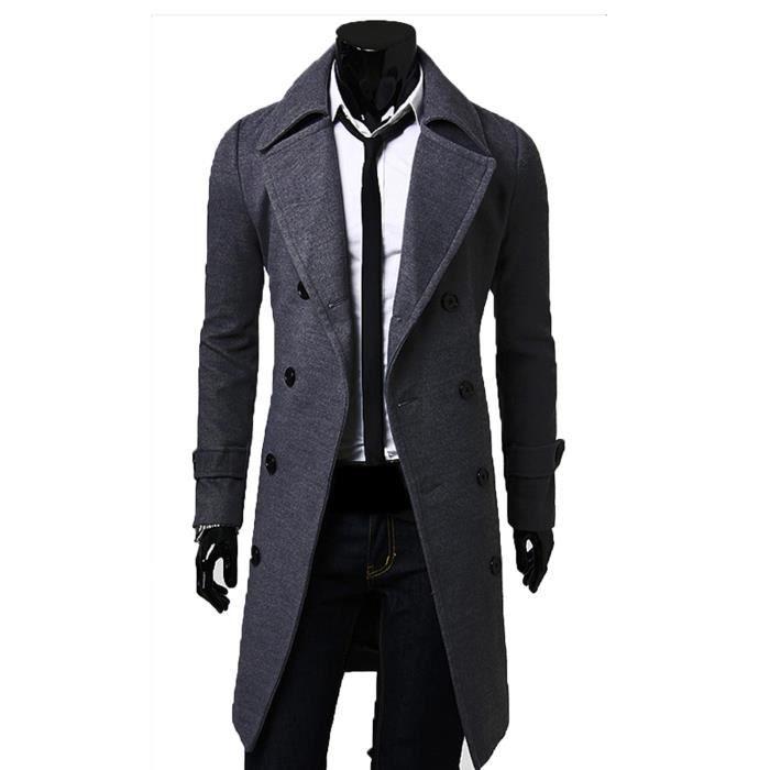 manteau homme classique pas cher,Manteau Homme Imper Tendance Noir 57500f79ac3