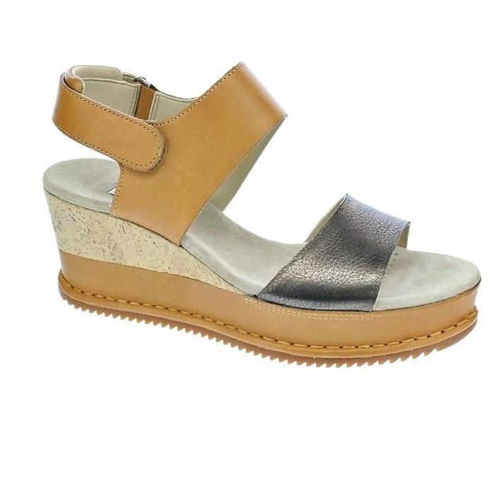 3ff0f077efb52 Chaussures Clarks Femme Sandales modèle Akilah Haze Beige Beige ...