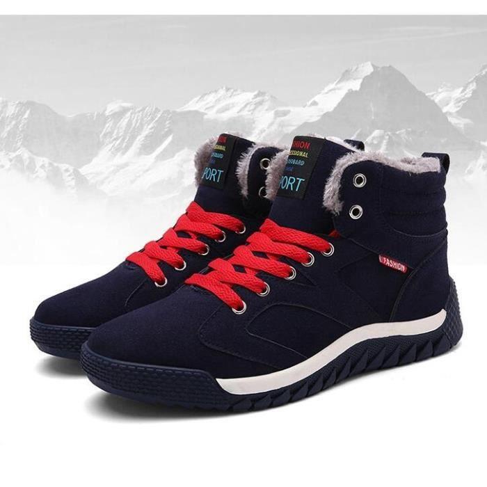 Mode d'hiver Chaussures de sport pour hommes en coton coréenne chaussures en coton chaud étudiants plus le coton Chaussures lBn4w0Af