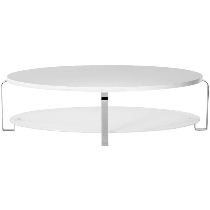 table basse ovale blanche ellipse x x achat. Black Bedroom Furniture Sets. Home Design Ideas