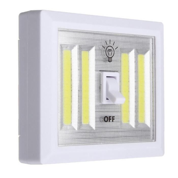 1 Pcs Cob Interrupteur De Lampe Murale Led Batterie Alimente Garage