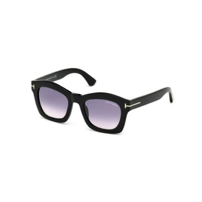 Lunettes de soleil Tom Ford FT0431 01Z noir brillant - violet fumé