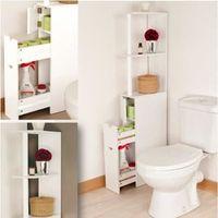 Meuble Wc Etagere Bois Gain De Place Pour Toilettes Achat Vente