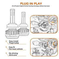 PHARES - OPTIQUES Paire H11-H9-H8 R7 LED Kit de phare Buls à faiscea