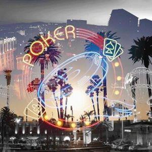 TABLEAU - TOILE TABLEAU DECO LED 30*30cm Vegas Poker