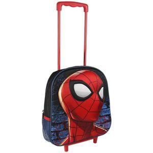 CARTABLE Cartable 3D avec roulettes Spiderman 937