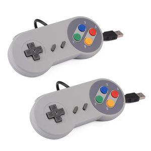 JOYSTICK - MANETTE CABLING® 2 Manettes USB PC de jeu SNES Manette pou