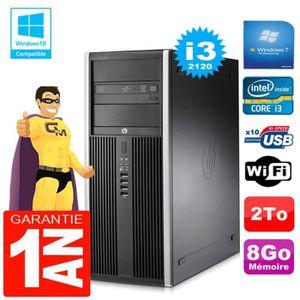UNITÉ CENTRALE + ÉCRAN PC Tour HP Compaq 8200 Core I3-2120 Ram 8Go Disque