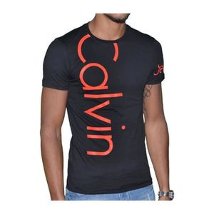 cc64649252741 Calvin Klein - T Shirt Manches Courtes - Homme - Cmp13s - Fluo Noir ...