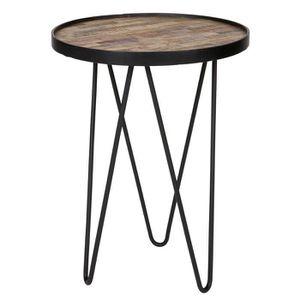 Table mange debout bois achat vente table mange debout bois pas cher cdiscount - Mange debout bois metal ...