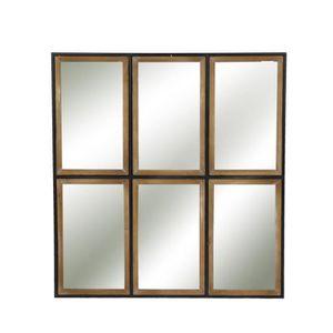miroir style industriel achat vente pas cher. Black Bedroom Furniture Sets. Home Design Ideas