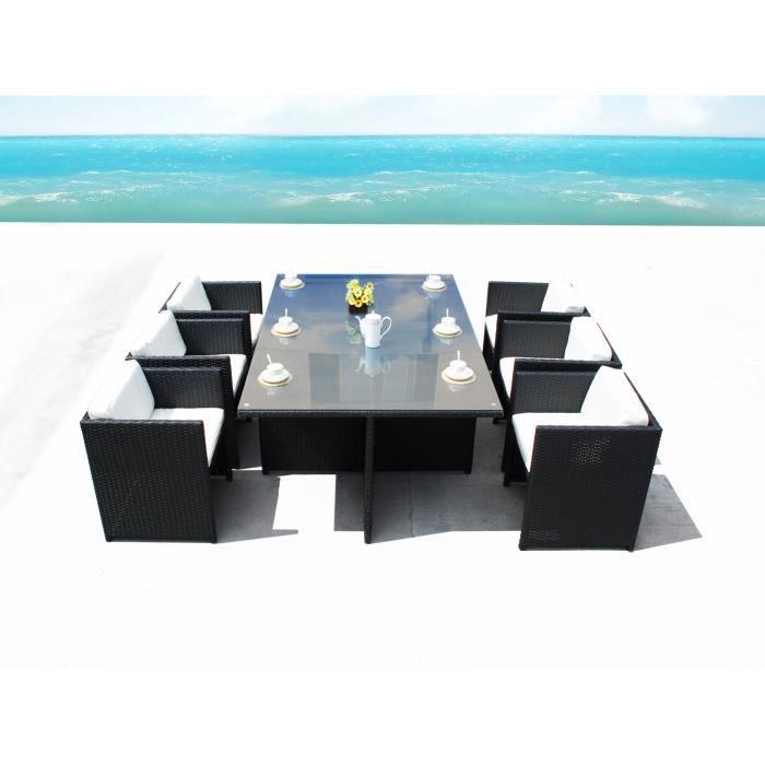 Miami 6 Blanc : Ensemble De Jardin 6 Personnes En - Achat / Vente ...