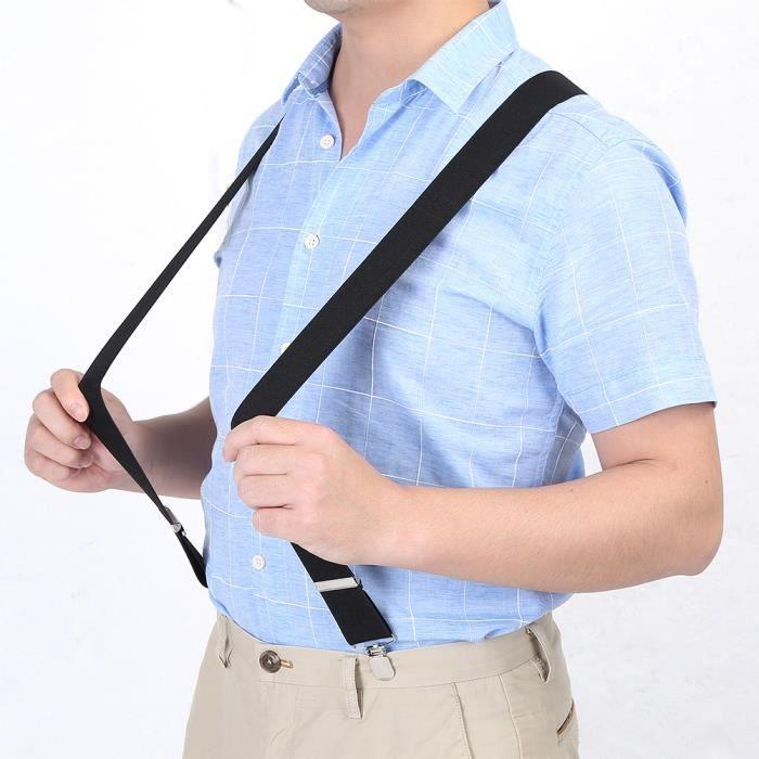 35mm Bretelles de pantalon Réglables 4 clips sur accolades Noir X-Forme  Homme 1f255fbdace