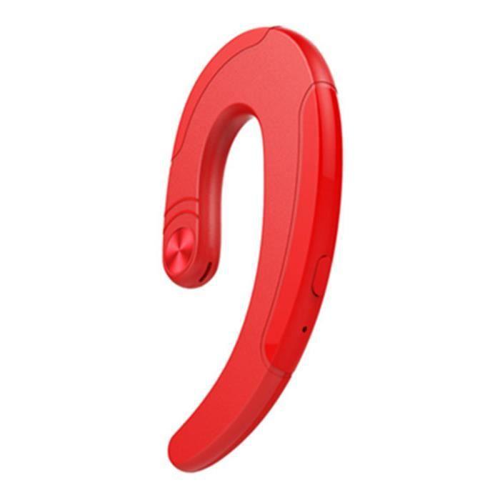 Écouteur Sans Fil Portable Bt4.2 Microphone Phonecall -rouge