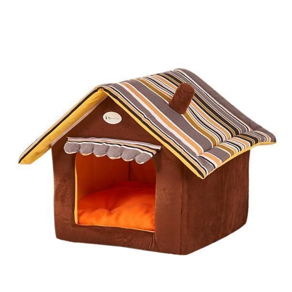 Tenoens® Nouvelle Pliable Maison & Animaux Lit Chien Chat Doux Kennel Mat Pad Chaud Panier Coussin Chiot_poi529