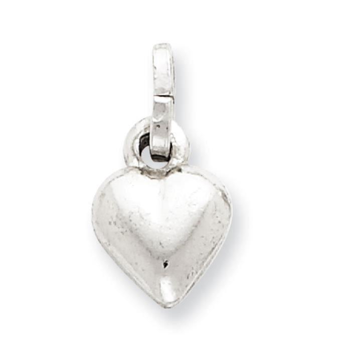 Soufflé coeur-Argent 925/1000–JewelryWeb