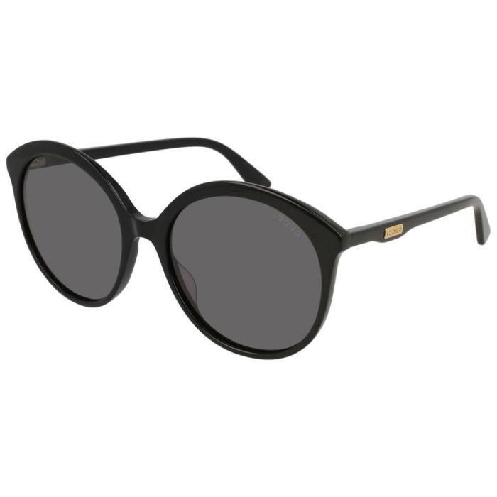 Lunettes de soleil Gucci Urban GG 0257S Ronde - Ovale Plastique Noir ... 47570c4be4bf