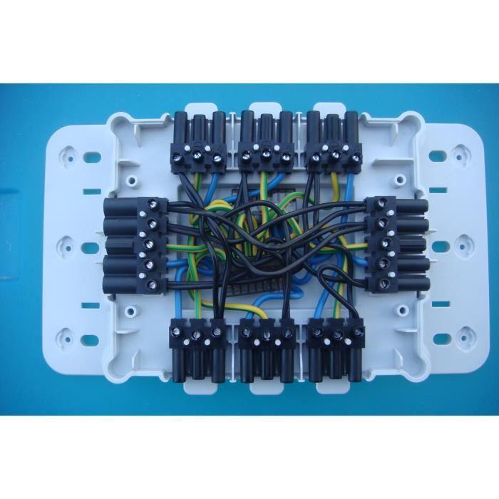 legrand 92237 boite d rivation equip e raccordement rapide tri mono 7 circuits achat vente. Black Bedroom Furniture Sets. Home Design Ideas