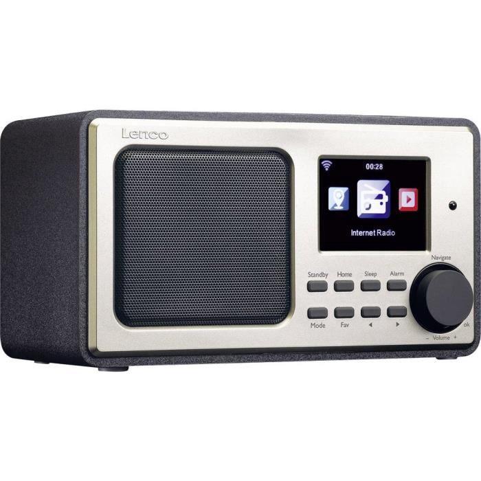 Radio De Bureau Dir-101 Wifi, Usb, Audio, Stéréo (jack 3.5 Mm) Noir