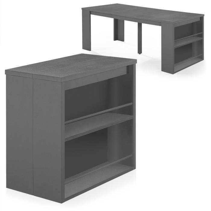 console extensible avec rangement rallonge achat vente pas cher. Black Bedroom Furniture Sets. Home Design Ideas