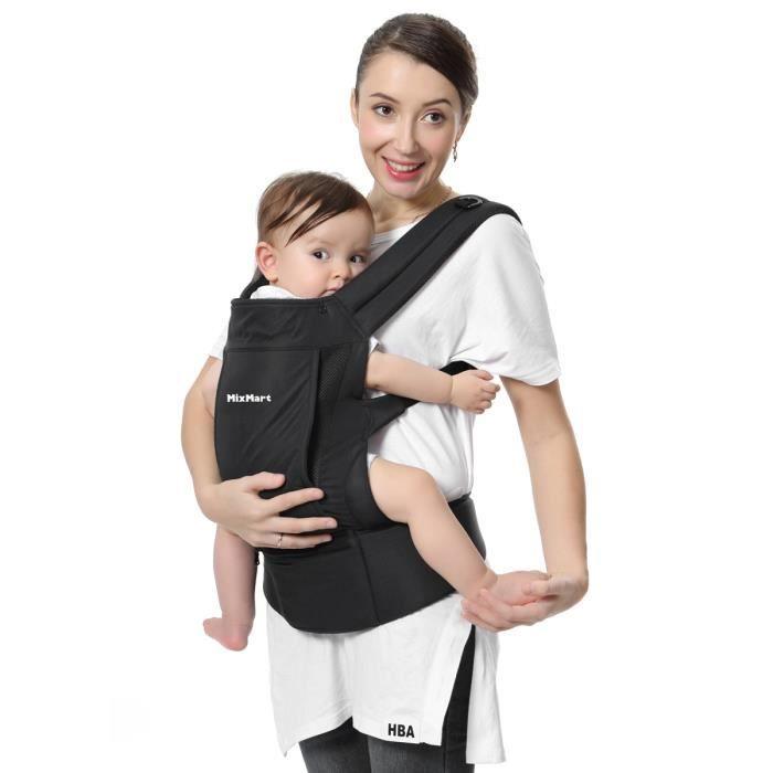 MixMart Porte-bébé Ventral et Dorsal Randonnée 3 en 1 Sac à Dos Respirant  pour Vacances Sportives Convient aux Bébés de 3-12 Mois eb146b11014