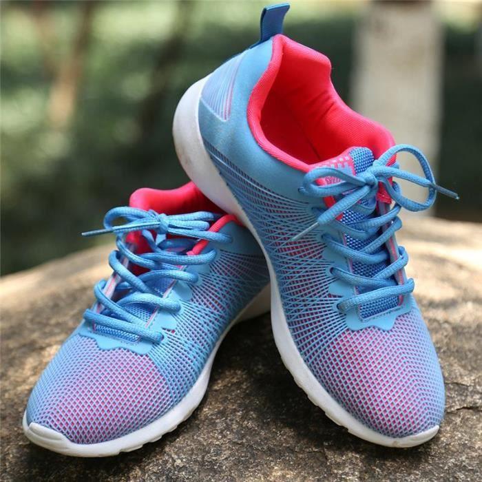 Chaussures De Sport Pour Hommes en daim Textile De Course Populaire LLT-XZ124Blanc43 i1dLem
