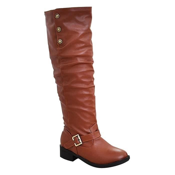 Élégant Chaussures Chaudes Plates Femme Minetom Décontractée Hiver qw7EgC