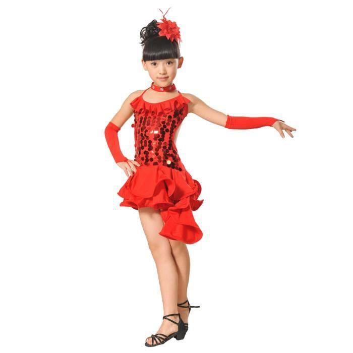 fda3df45ccf Ensemble de vêtements Lafayestore®Enfant en bas âge filles filles latine.  Enfant en bas âge filles filles latine Ballet Dress Party Dancewear ...