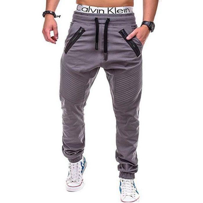 la meilleure attitude 8a53e 2ceff Pantalon Hommes de Jogging - Avec Cordon de Serrage - La Mode - Pantalon  Légère Casual Hommes - Vêtement Masculin