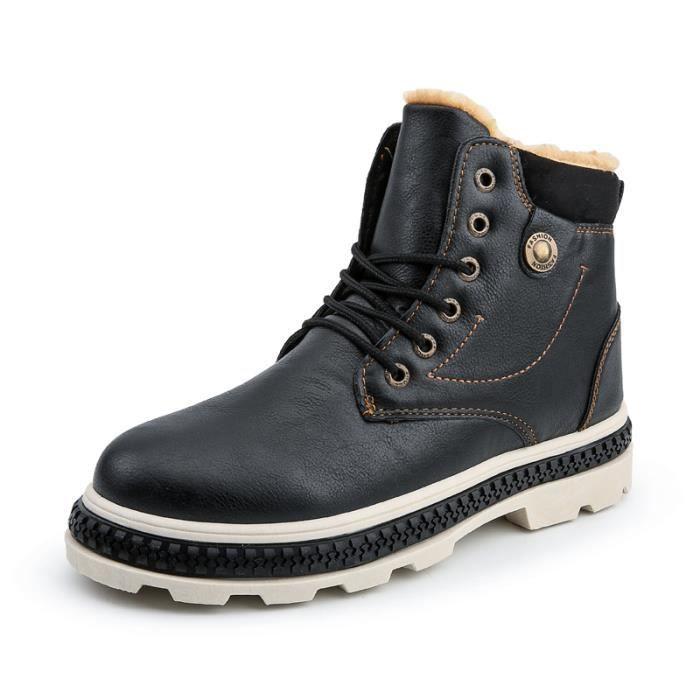 dca5bb996d0e Courtes Étanches Homme Bottes Botte L hiver Chaussures Mode Pour Avec Coton  H6qqxT1