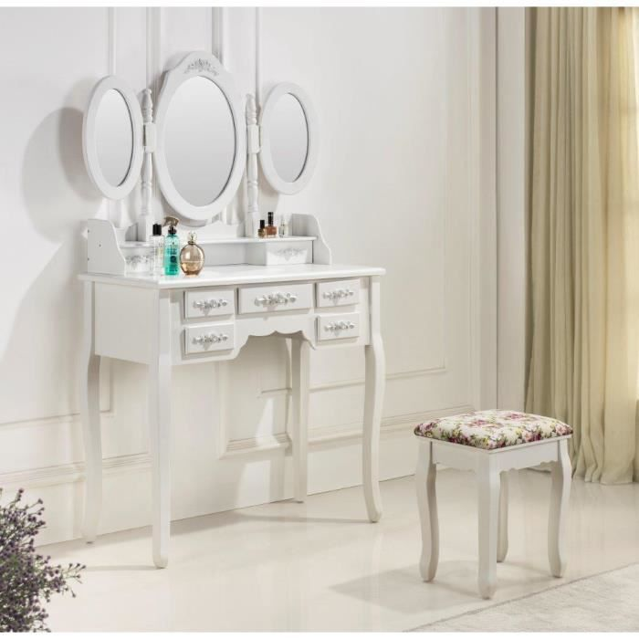 Tr s jolie coiffeuse table de maquillage achat vente for Meuble coiffeuse maquilleuse