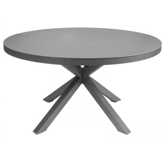 Table jardin aluminium ronde - Achat / Vente pas cher