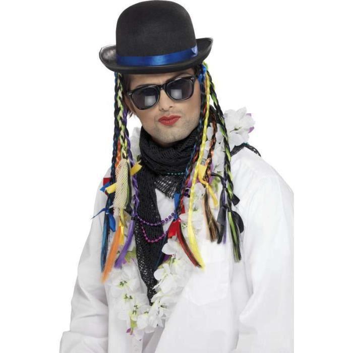 CHAPEAU , PERRUQUE Chapeau cameleon avec tresses multicolores