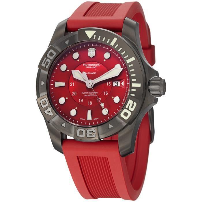 Rouge V241577S Victorinox Montre 500 Master Homme Dive 3cF1TlKJ