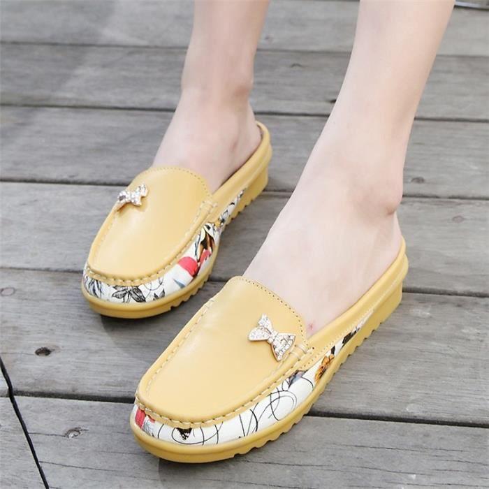 Femmes Flats Mode Chaussures en cuir véritable Chaussures Femme Slip sur les femmes Mocassins Chaussures Zapatos Driving Mujer 3 xcgJDZkS