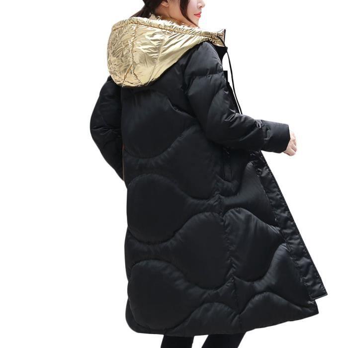 Hiver Long Genou À Qe5802 Épaississement Capuchon Manteau Femmes Des Sur Mince Parkas r0rZnF1