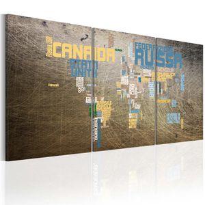 TABLEAU - TOILE Tableau  |  Carte du monde  | 60x30 |  Cartes du m