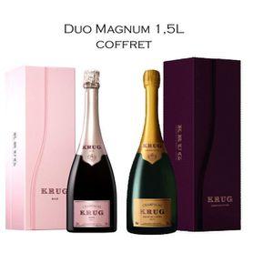 CHAMPAGNE Lot de 2 Magnum Krug Grande Cuvée et Rosé - Sous C